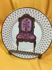 Fitz and Floyd Chaise III Fine Porcelain Collector Plate Gold Trim French Chair