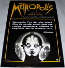 METROPOLiS Fritz Lang Sci fi Germany Brigitte Helm SMALL French POSTER