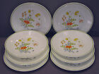 Vintage Set Of 8 Corelle Salad Plates Wildflower Pattern By Corning Discontinued