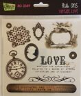 1 pack of Rub Ons for Scrapbooking Vintage Love by Glitz Design RO2549