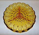 Vintage Anchor Hocking Amber Fairfield Gold Glass Divided Relish Tray Plate