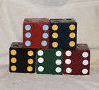SET OF 6 LARGE WOOD YARD LAWN DICE FOR TAILGATING/YARD GAMES