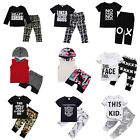 Cute Toddler Kids Baby Boy Outfits Clothes T shirt Tops+Pants Trousers 2pcs Set