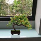 Fake Potted Plants Artificial Bonsai Plastic Pine Tree Home Office Zen Decor NEW