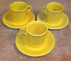 6 Piece Set of Fiesta Sunflower Cups and Saucers (609)