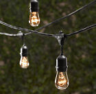25 Bulbs Vintage Patio String Lights Black Cord Clear Glass Edison Bulbs 54'
