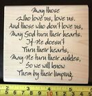 River City Rubber Works Limping Prayer rubber stamp NEW