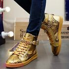 Mens Fashion Athletic Sneakers Lace up Round toe Punk Hip Hops High top Shoes