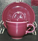 Homer Laughlin Fiesta Cinnabar Maroon Cup & Saucer NEW