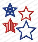 Impression Obsession STARS Metal Die DIE552 V USA Red White  Blue 4th of July