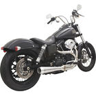 Bassani Road Rage III 3 Stainless Exhaust for 1991 2016 Harley Dyna 2 Into 1