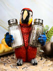 Tropical Rainforest Red Scarlet Macaw Parrot Salt Pepper Shakers Holder Figurine