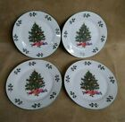 4 Gibson Everyday Christmas Charm Holly Berries Sandwich Plates New 7
