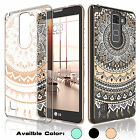 Hybrid PC Crystal Clear TPU Hard Case Cover for LG G Stylo 2 Stylus 2