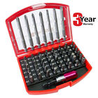 56PC AMTECH SCREWDRIVER BITS SET + CASE SLOTTED PHILLIPS TORX POZI 3 YR WARRANTY