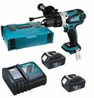 Makita DHP458 18v Combi Drill + 2 BL1830 Batteries + DC18RA Charge