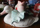 Vintage Fitz & Floyd Japan Beautiful Duck Swan Tulip Taper Candle Holder