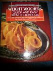 Weight Watchers Quick and Easy Menu Cookbook 1988