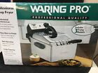Waring Pro Professional Deep Fryer 3 Frying Baskets 1800W Large Capacity