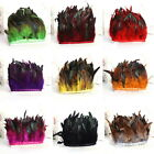 Hackle Rooster Feather Fringe trim 1 to 10 M Craft Sewing Costume Millinery UI