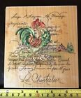 Stamps Happen Le Chanticleer Rooster rubber stamp NEW