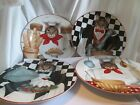 4 CAT PLATES SAKURA GORMET CATS ONEIDA STEPHANIE STOUFFER-8