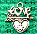 10Pcs Tibetan Silver Arrow Love HEART Charms Pendants Jewelry Findings H49