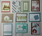 Lot of 10 Assorted Pretty Christmas cards made w Stampin Up supplies FREE SHIP