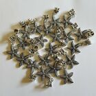 Star Fish Starfish Antique Silver Pendant Charms With Bails for Jewelry 20 PCS
