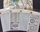Lot 4 BasicGrey Wholly Cow Rub On Transfers SENTIMENTS FRAMES VICTORIAN BORDERS