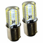2-pack Hqrp 110v Ba15d Base 64 Leds Light Bulb For Singer Series Sewing Machines