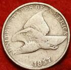 1857 Philadelphia Mint Copper Nickel Flying Eagle Cent Free S H