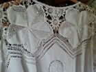 Lims crochet womens top blouse short sleeve new vintage medium