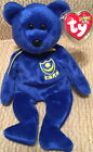 TY Beanie Baby POMPEY P.F.C. Teddy Bear EUROPE Exclusive! MWMT Plush BEAN BAG
