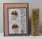 Stampin up Birthday Stamp balloons cake  confetti use with create a cupcake