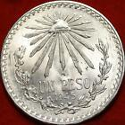 Uncirculated 1945 Mexico Peso Silver Foreign Coin Free S/H