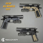 Recover Tactical Grip w Picatinny Rail for 1911 By Models Colors CC3P USA