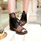 Gladiator Women Sandals Open Toe Lace Up Rivet Studded Ankle Boots Ladies US4 11