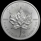 1 Troy oz .9999 Fine Silver 2015 Canadian Maple Leaf $5 Coin from Mint Tube 04