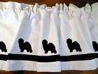Old English Sheepdog Dog Window Valance Curtain in Your Choice of Colors