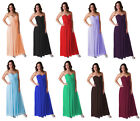 Formal Dress Full Length Evening Gown Bridesmaid Wedding Party Prom Ball 0 18