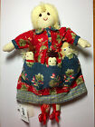 April Cornell Original Old Fashioned Cloth Missy Mommy Doll with 3 babies VHTF