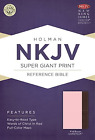 NKJV Super Giant Print Reference Bible Pink Brown LeatherTouch BRAND NEW