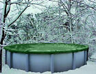 30 Round Above Ground Winter Swimming Pool Solid Cover 12 Yr Warranty solid New