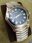 Ebel Men's Classic Wave Watch with Blue Dial, Roman Numerals
