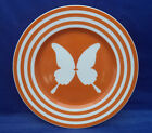 Salad Buffet Accent Plate Fitz Floyd PAPILLION Rare Orange Color Butterfly 7.5