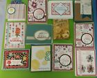 Lot of 12 assorted cards made Stampin Up supplies Thank You Get Well Birthday+