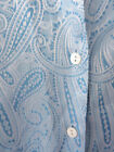 Foxcroft 16W Top Paisley Baby Blue Wrinkle Free Womens Blouse Shirt