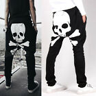Men's Jogger Skull Sportwear Baggy Harem Pants Slacks Trousers Sweatpants