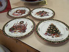 4 International China Susan Winget A Christmas Story Salad Plates  new in the bo